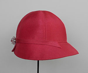 rosey shantung beach hat cloche